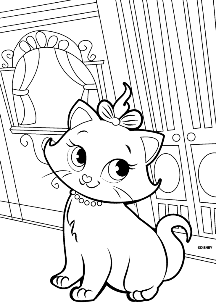 Marie Coloring Pages 9