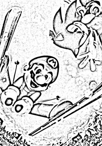 Mario&Sonic at The Olympic Winter Games Coloring Pages 3