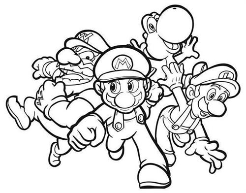 Mario Coloring Pages 1