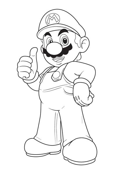 Mario Coloring Pages 2