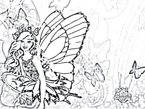Mariposa Coloring Pages 4