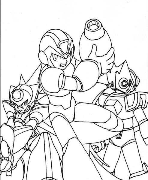 Megaman ZX Coloring Pages 4