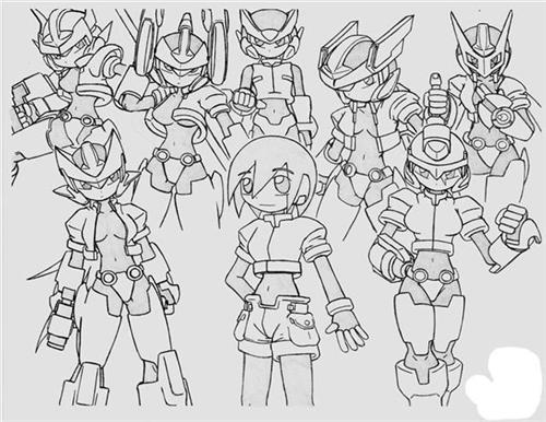 Megaman ZX Coloring Pages 5