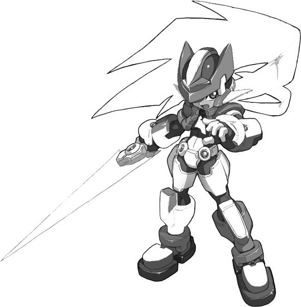 Megaman ZX Coloring Pages 7
