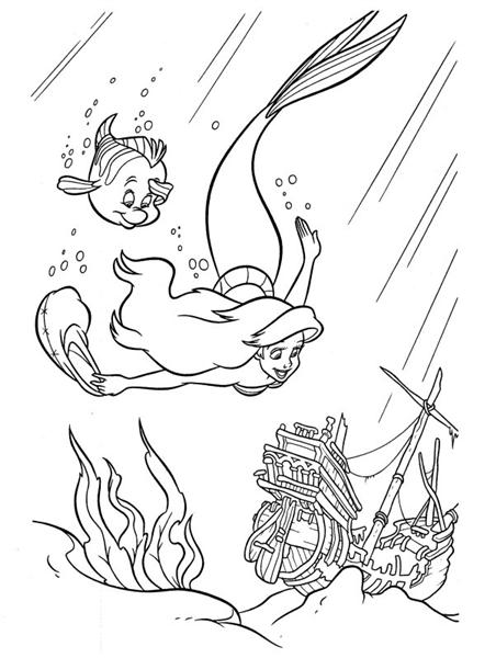 Mermaid Coloring Pages 9