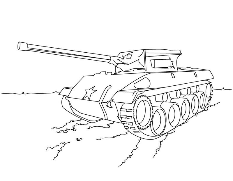 Military Coloring Pages 4