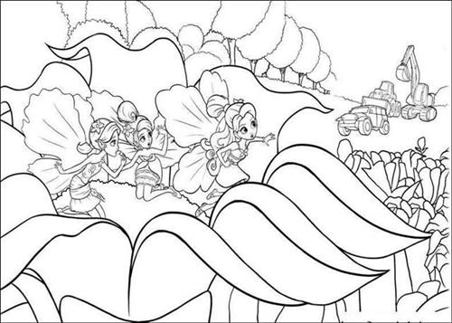 Barbie Thumbelina Coloring Pages 1