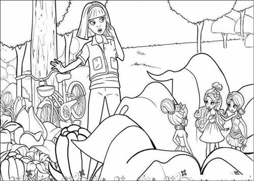 Barbie Thumbelina Coloring Pages 5