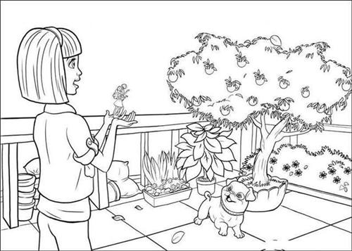 Barbie Thumbelina Coloring Pages 8