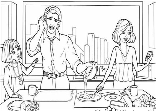 Barbie Thumbelina Coloring Pages 10