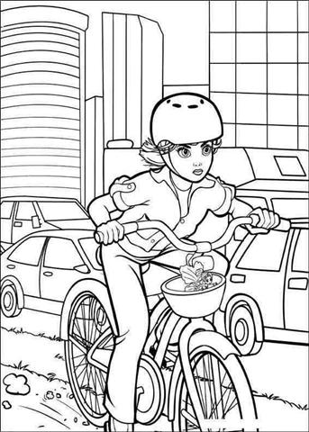 Barbie Thumbelina Coloring Pages 12