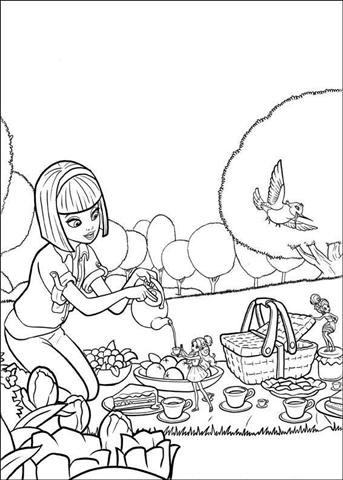 Barbie Thumbelina Coloring Pages 13