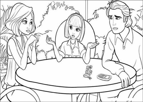 Barbie Thumbelina Coloring Pages 14