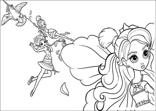 Barbie Thumbelina Coloring Pages 15