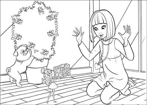 Barbie Thumbelina Coloring Pages 17