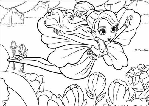 Barbie Thumbelina Coloring Pages 18