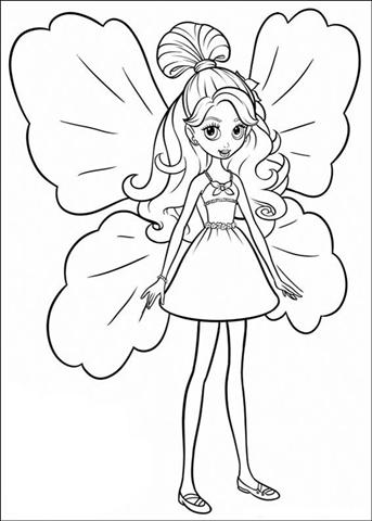 Barbie Thumbelina Coloring Pages 19