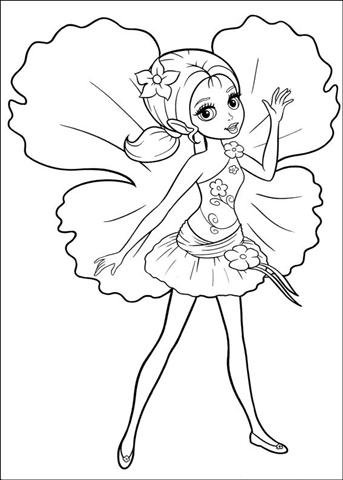 Barbie Thumbelina Coloring Pages 20