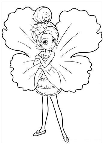 Barbie Thumbelina Coloring Pages 21