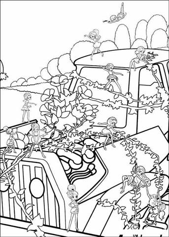 Barbie Thumbelina Coloring Pages 26