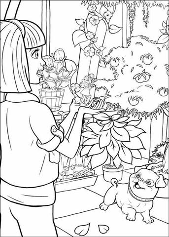 Barbie Thumbelina Coloring Pages 28