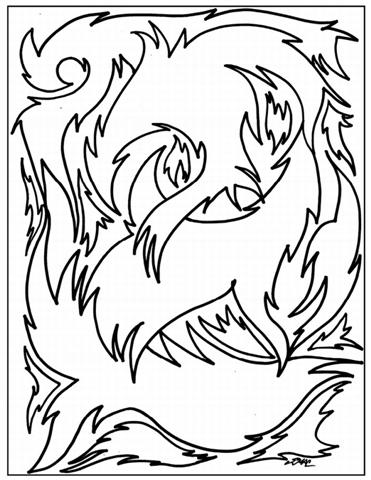 Abstract Coloring Pages 11
