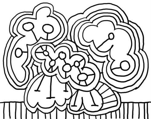 Abstract Coloring Pages 12