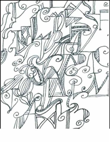 Abstract Coloring Pages 4