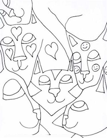 Abstract Coloring Pages 7