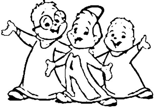 Alvin and the Chipmunks Coloring Pages 2
