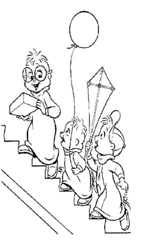 Alvin and the Chipmunks Coloring Pages 4