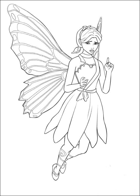 barbie butterfly coloring pages - photo#8
