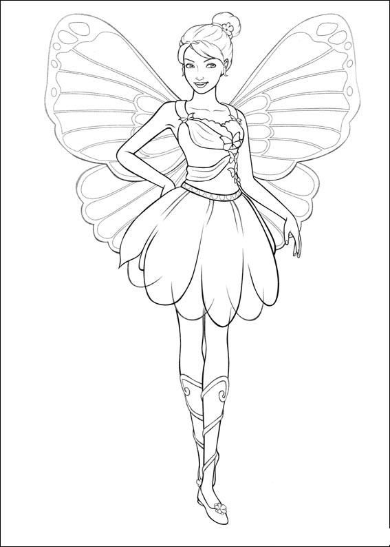 Barbie Mariposa Coloring Pages 2