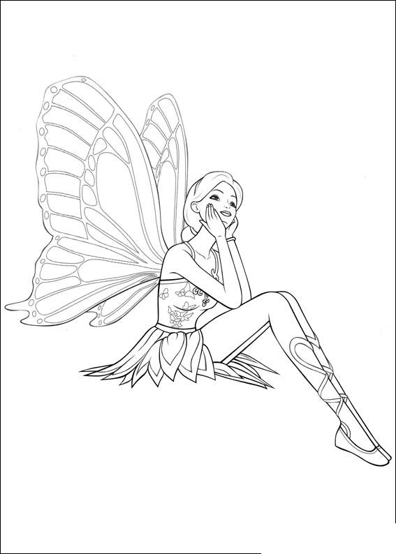 Barbie Mariposa Coloring Pages 4