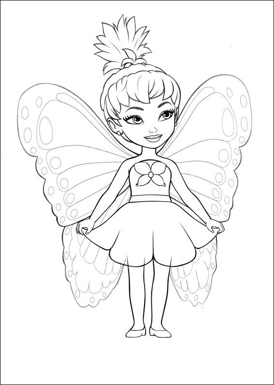 Barbie Mariposa Coloring Pages 5