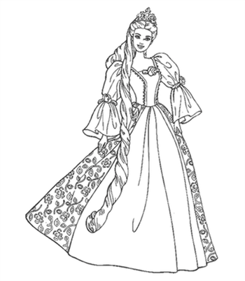 Barbie and The Diamond Castle Coloring Pages 13