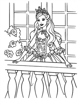 Barbie and The Diamond Castle Coloring Pages 15