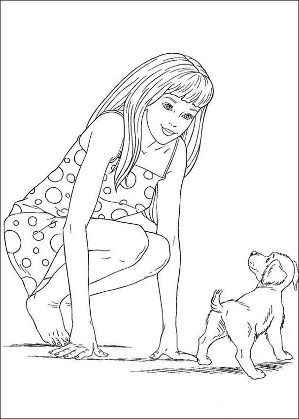 Barbie and The Diamond Castle Coloring Pages 18