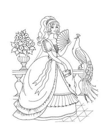 Barbie and The Diamond Castle Coloring Pages 12