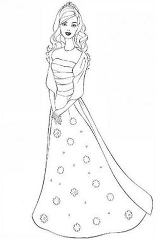 Barbie and The Diamond Castle Coloring Pages 1