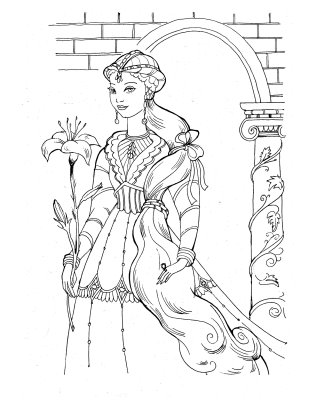 barbie and the diamond castle coloring pages 7 - Medieval Coloring Pages