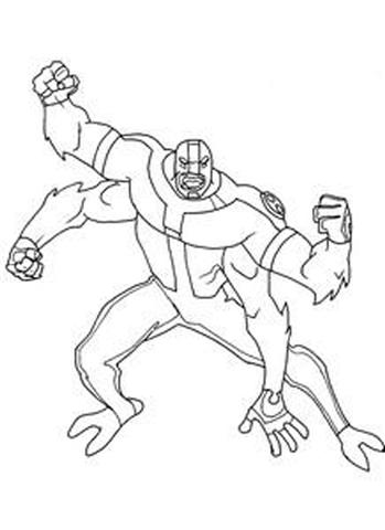 Ben 10 Alien Force Coloring Pages 11