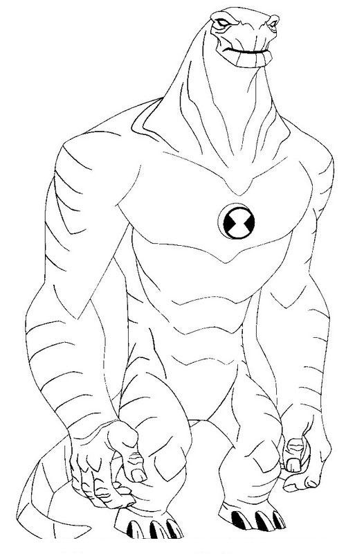 Ben 10 Alien Force Coloring Pages 15