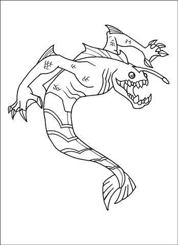 Ben 10 Alien Force Coloring Pages 16