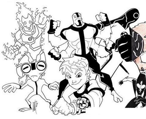 Ben 10 Alien Force Coloring Pages 18