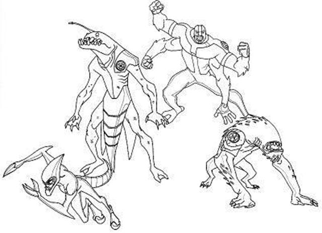 Ben 10 Alien Force Coloring Pages 21