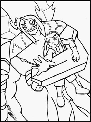 Ben 10 Alien Force Coloring Pages 4