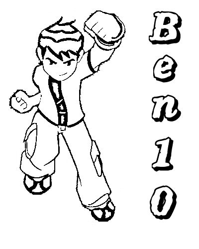 Ben 10 Alien Force Coloring Pages 6