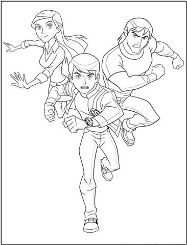 Ben 10 Alien Force Coloring Pages 7