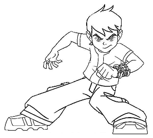 Ben 10 Alien Force Coloring Pages 8